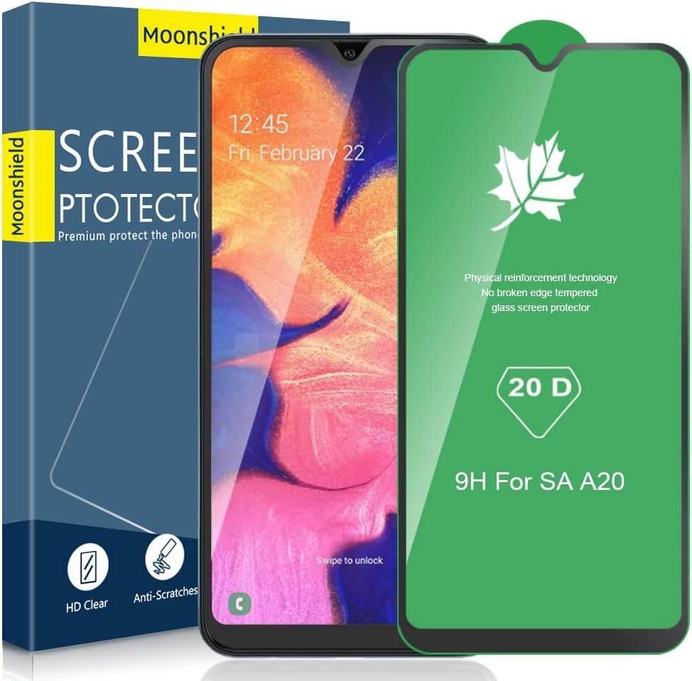 [3 Pack]MOOISVS Full Coverage Screen Protector for Samsung Galaxy A10/A10S/M10, Tempered Glass 9H 20D Advanced Clarity Anti-Scratch [3D Touch] Case Friendly