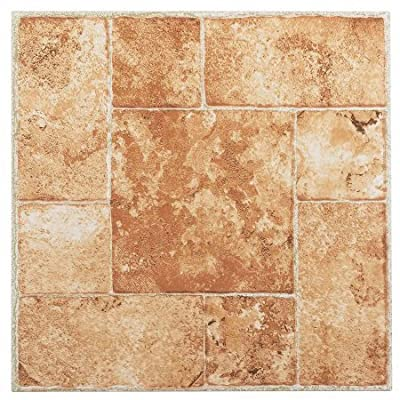 NEXUS 12x12 Self Adhesive Vinyl Floor Tile - 20 Tiles/20 Sq.Ft.