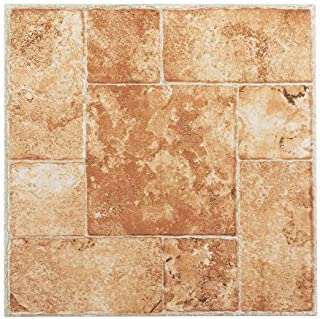 NEXUS 12x12 Self Adhesive Vinyl Floor Tile - 20 Tiles/20 Sq.Ft. (Beige Terracotta)