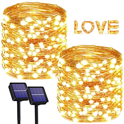 2-Pack Each 200 LED Solar Christmas Lights,StarWin Super Bright Outdoor Solar String Lights 72Ft 8 Modes IP65 Waterproof Copper Wire Solar Fairy Lights Garden Light for Patio Yard Christmas Decoration