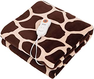 QLAT HOME Electric Blanket Heating Hand Warm Foot Comfort King Size Machine Washable Office Heated Lightweight Bed or Couch Blanket