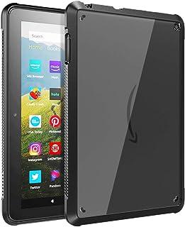 Fire HD 8 2020 ケース TiMOVO New Fire HD 8 / Fire HD 8 Plus カバー 2020 第10世代 クリア TPU縁+PC背面ケース 滑り止め 軽量 一体感 耐衝撃 ストラップホール付き シンプル 高...