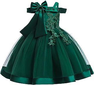KISSOURBABY Girls Dresses Flower Girl Dress Formal Pageant Ruffles Tutu Dress Size 3-10