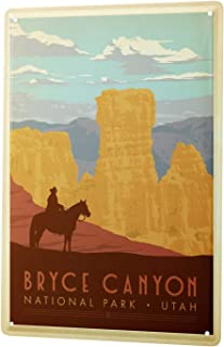 Tin Sign Decoration Holiday Travel Agency Bryce Canyon National Park Utah Metal Wall Plate 8X12