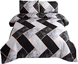 NTBED Marble Comforter Set Queen, Brushed Quilt Bedding Sets Queen