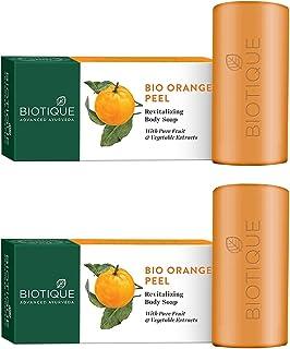 Biotique Bio Orange Peel Revitalizing Body Soap, 150g (Pack Of 2)