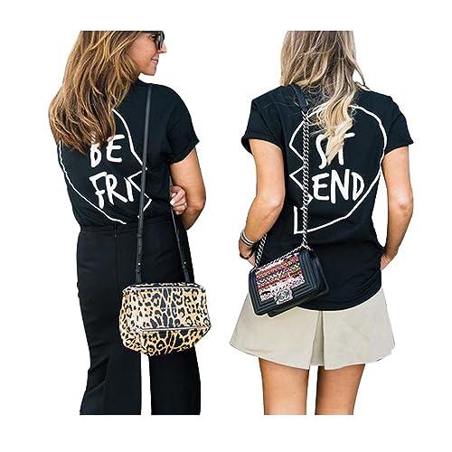 0b711f5a Best Friends T Shirts Women Black Slogan Hipster Funny Tops Plus Size Ladies