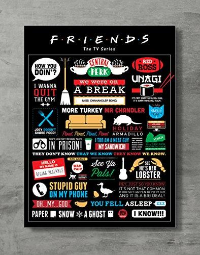 Póster de amigos con diseño de amigos de la televisión de la marca Friends Merch, tamaño estándar 45,7 x 61 cm