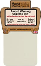 MastaPlasta Self-Adhesive Patch for Leather and Vinyl Repair, XL Plain, Ivory - 8 x 11 Inch