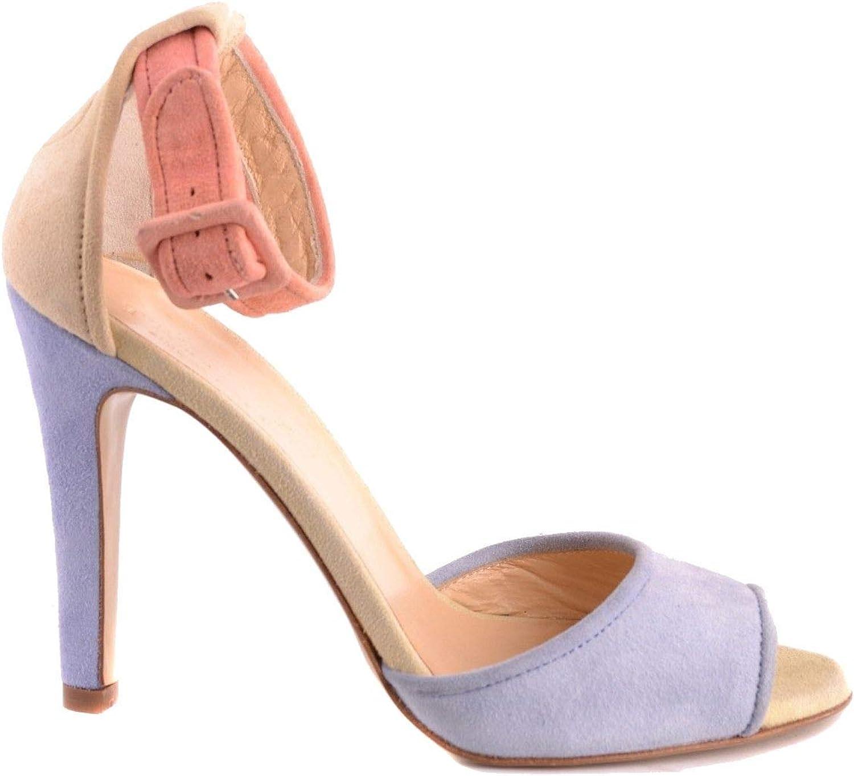 TWIN-SET Women's MCBI30000 Light bluee Suede Sandals