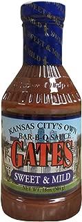 Gates Sweet & Mild Bar-B-Q Sauce, 18 Ounce, Kansas City Style Barbecue Sauce