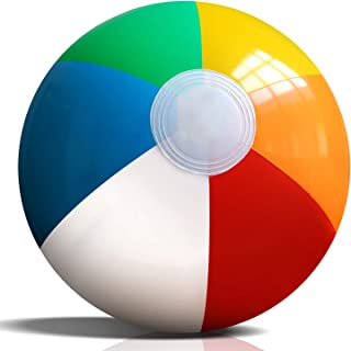 """Novelty Place Inflatable Beach Balls - 12 Pack, 9"""" Diameter, Bright Rainbow Colored, Leak-Proof PVC - Summer Seaside Beach..."""