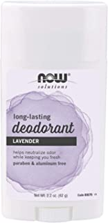 NOW Solutions, Deodorant Stick, Long Lasting, Refreshing Lavender Scent, Odor Eliminating for Underarms and Feet, Paraben ...