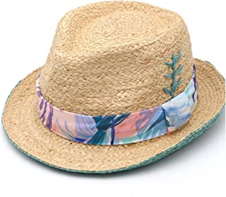 SXQ Summer Handmade Straw Hat Women's Outdoor Travelling Wide-brimmed Beach Hat Ladies' Sun Hat With Ribbon Decoration Foldable Sunproof Straw Hat UV Protective Panama Hat Visor For Vocation Seaside B