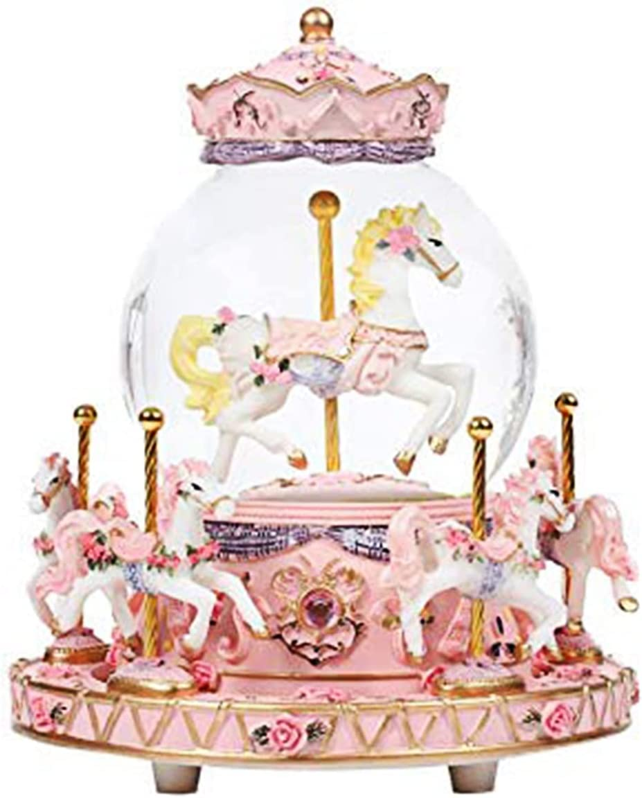 Clearance SALE! Limited time! LED Fashionable Musical Carousel Crystal Ball B Creative Gift for