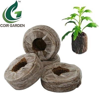 COIR GARDEN Coir Fiber Seed Germination Kit, Natural Brown, 50 Pieces