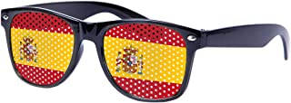 Bril met Grid Hole Design - Fun Themed World Cup Landen Vlaggen Voetbal Evening Party Outfit