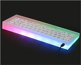機械的な 65ページキットアクリルキット68機械キーボードP-C-B基板ケースK-B-D-F-a-N-S T-O-F-u 65%透明照明 (Asse del corpo : Aluminum plate, Colore : Acrylic ca...