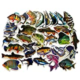 EKIND Not Repeat Graffiti Stickers for Tablet Skateboard Car Decals Bicycle (50Pcs, Fish)