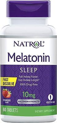 Natrol Melatonin Fast Dissolve Tablets, Citrus Pun…