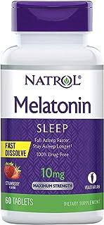 Natrol Melatonin Fast Dissolve Tablets,Strawberry, 10mg, 60 Count