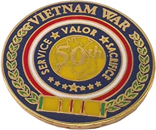 Vietnam WAR 50TH Anniversary Military Veteran Vietnam Hat Pin 13097 HO