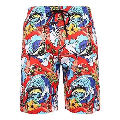 Pantalones Cortos Transpirables De Secado Rápido para Hombres Pantalones De Playa Pantalones Cortos Estampados Pantalones Deportivos De Estilo Casual Europeo Y Americano De Verano 4XL