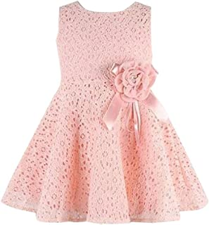 Moika Baby Girl Dress for 0-7 Years Girls, Children, Sleeveless Lace Floral One-Piece Dress Child Princess Party Dress