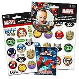 Juego de Pegatinas para Fiesta de superhéroes, 6 Hojas de Pegatinas de Emojis de Marvel con Pegatinas de Spiderman de Regalo (Pegatinas de Marvel y Suministros de Fiesta)