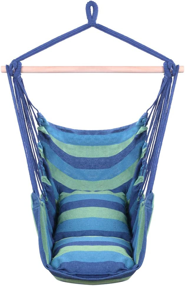 Blue Distinctive Cotton Canvas Hanging Pillows Weekly update with H Cheap mail order sales Rope Chair