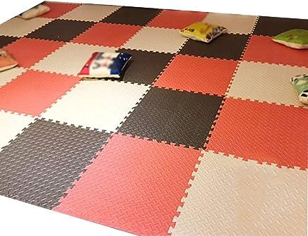 MAHFEI-Puzzlematten Holz Textur Taekwondo Hall Fitnessstudio Baby Kriecht Weich rutschfest Einfach Zu S/äubern PE Color : Beige, Size : 16PCS 5 Farben Freie Kombination