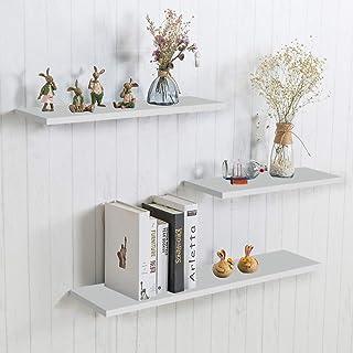 aimu - Estantería de pared flotante (3 unidades) color blanco