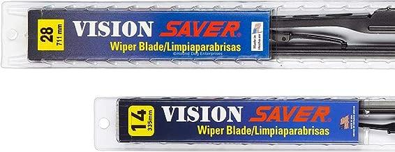 Vision Saver - Windshield Wiper Blade Bundle - 3 Items: Driver & Passenger Blades & Reminder Sticker fits 2015 Honda Fit