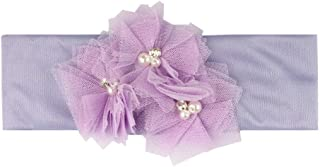 Dolloress Multi Colors Flower Headband Hair Belt Band Clip Girls Ribbon Bow for Kids Toddler Headwear Accessories