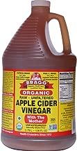 Bragg Organic Unfiltered Apple Cider Vinegar, Raw, 128 Ounce