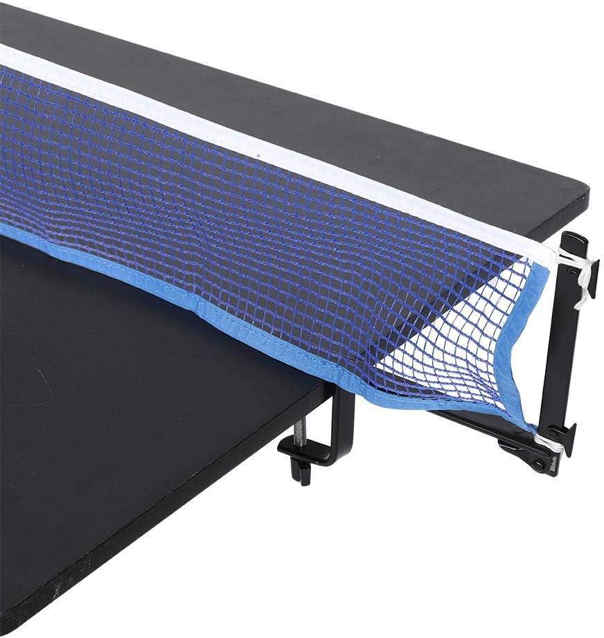 Nikou Red de Tenis de Mesa - Redes de Tenis Red portátil de Tenis de Mesa con Postes de Abrazadera de Metal Juego de Ping Pong Accesorio