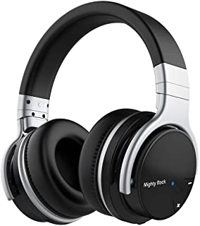 Meidong E7C Active Noise Cancelling Headphones Bluetooth Headphones Wireless Headphones Over Ear Headphones with Microphone Hi-Fi Powerful Bass Comfortable Protein Earpads Headset and 30H Playtime