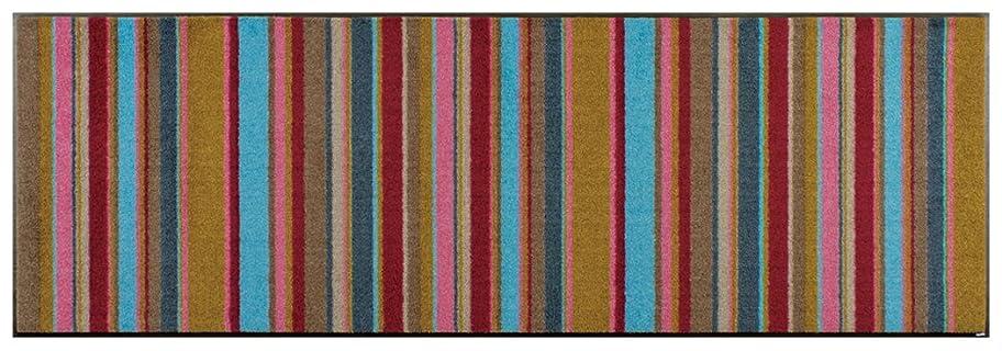 撃退する言語味付けwash+dry(ウォッシュアンドドライ)マット Modern Interior Stripes 60×180cm C014C