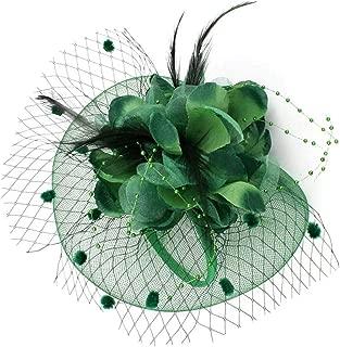 Fascinators Hat,Flower Mesh Ribbons Feathers Headband,Kentucky Derby Wedding Tea Party Fascinator