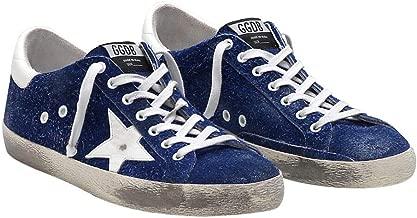 Golden Goose Deluxe Brand Blue Mens Superstar Sneakers G33MS590.H87-41 Color: Blue