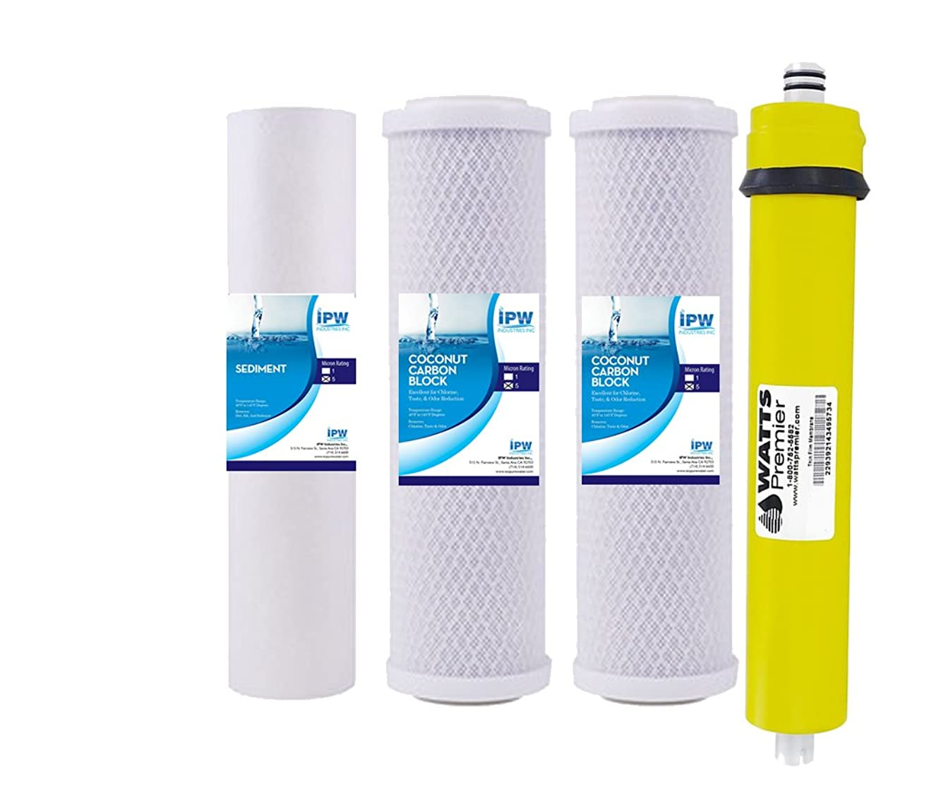 Watts Replacement Water Filters for WP-4V Reverse Osmosis System w/ 36 GPD Membrane 560016
