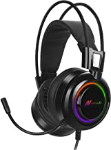ABKONCORE - B780 7.1 Channel Virtual Surround Sound USB Gaming Headset with High Precision 50mm Neodymium Drivers for 3D Sound, Premium Materials, Ultra Vibration with RGB, Noise Cancelling Mic