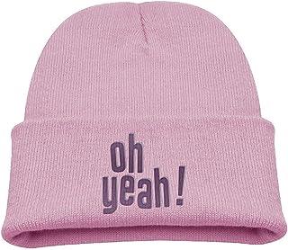 N/A Oh Yeah Baby Beanie Hat Toddler Winter Warm Knit Woolen Watch Cap for Kids