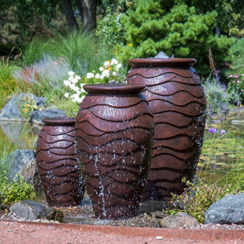 Aquascape Scalloped Urn Water Fountain for Outdoor, Landscape and Garden, Small, 32-inch H  | 78238