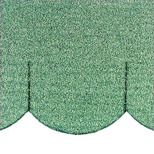 Martinshof Rothenburg Diakoniewerk Mini bardeaux de toit en queue de castor (100 mm) - Vert - 23,421\