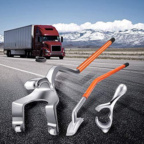 KKTECT Desmontadores de Neumático Kits de Acero/Aluminio, para neumáticos de camión y de Moto, etc,Kit de Herramientas de desmontaje de Montaje de Llantas de 17.5