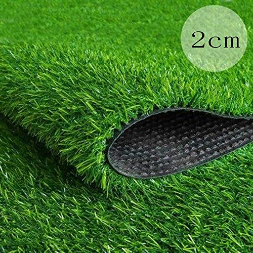 ZZHF BBGS Kunstrasen 2 cm Künstlicher Plastikrasen, Frühling/Sommer/Herbst Gras-Simulations-Rasen-Kindergarten-Teppich-Balkon-Dach-Dekoration-Fälschungs-Rasen Im Freien Garten Rasen