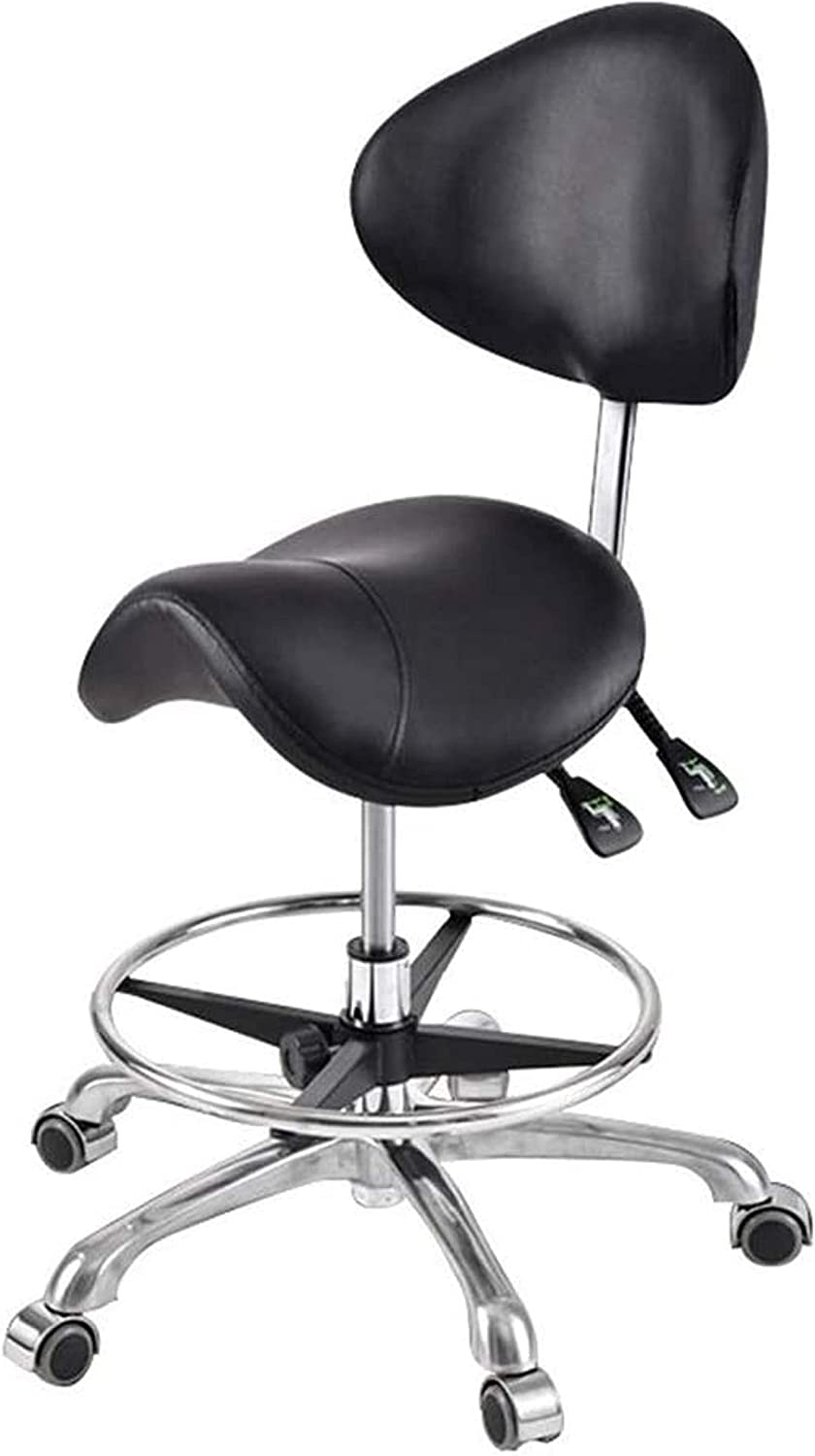 HZYDD Max 63% OFF Comfortable Bar Stool Swivel ! Super beauty product restock quality top! Chair Saddle Back with