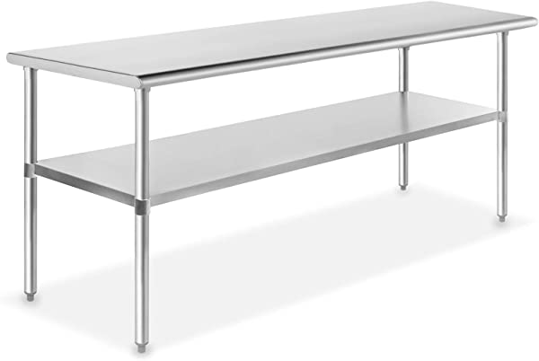 GRIDMANN NSF Stainless Steel Commercial Kitchen Prep Work Table 72 In X 30 In