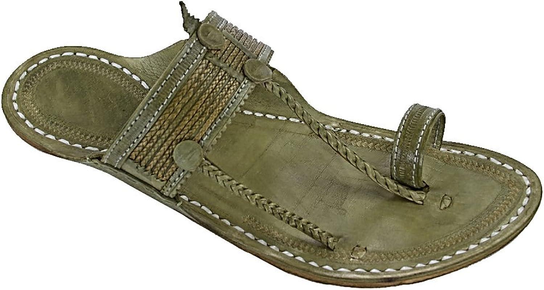 KOLHAPURI CHAPPAL Original Extraordinary Denim Black Cross Lace for Men Slipper Sandal